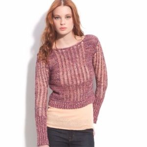 Free People Goccia Open knit Cropped Sweater Sz S